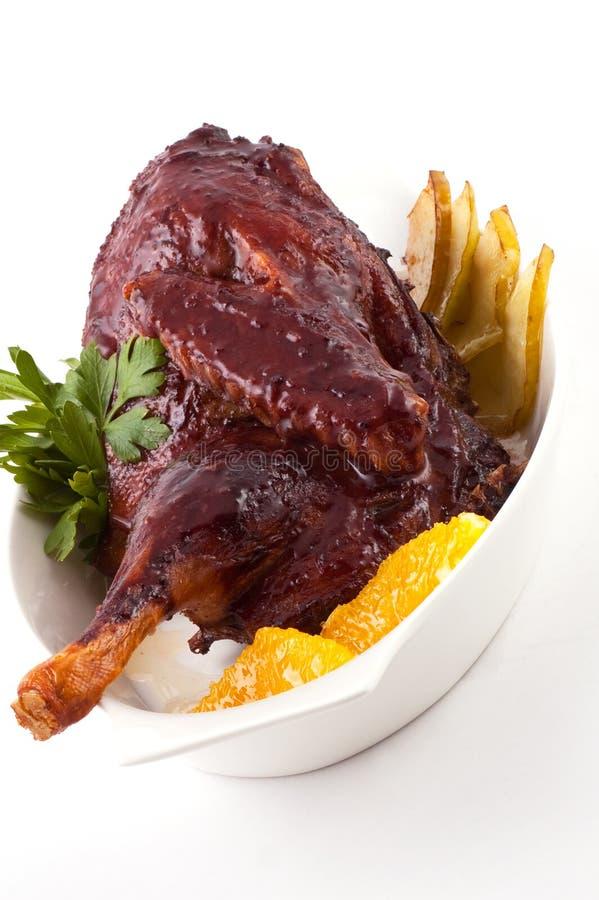 kurczak pieczeń fotografia stock