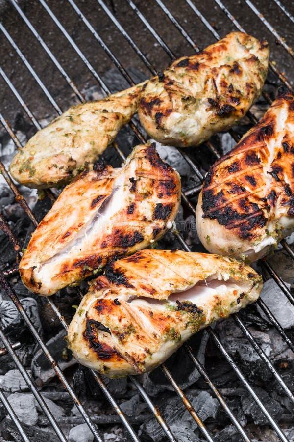 Kurczak pierś na grillu obraz royalty free