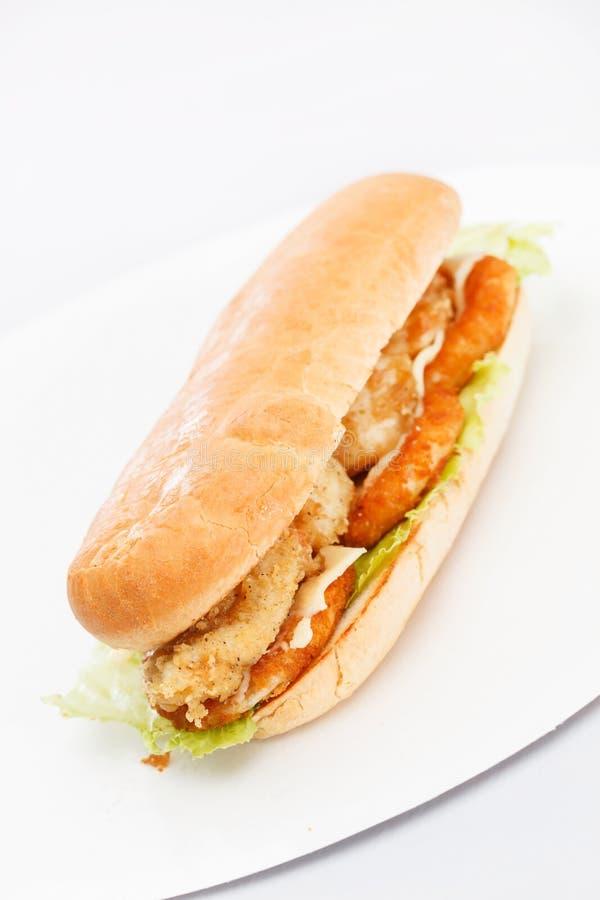 Kurczak piersi kanapka obrazy stock