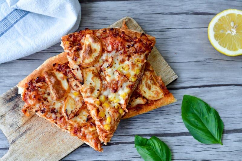 Kurczak pizza zdjęcie royalty free