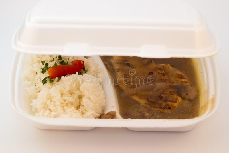 Kurczak polędwicowy z ryż obrazy royalty free