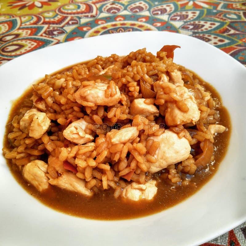 Kurczak & Rice zdjęcie royalty free