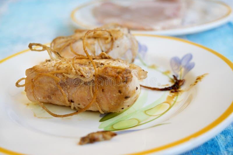 Kurczak rolady w białego wina kumberlandzie zdjęcia royalty free