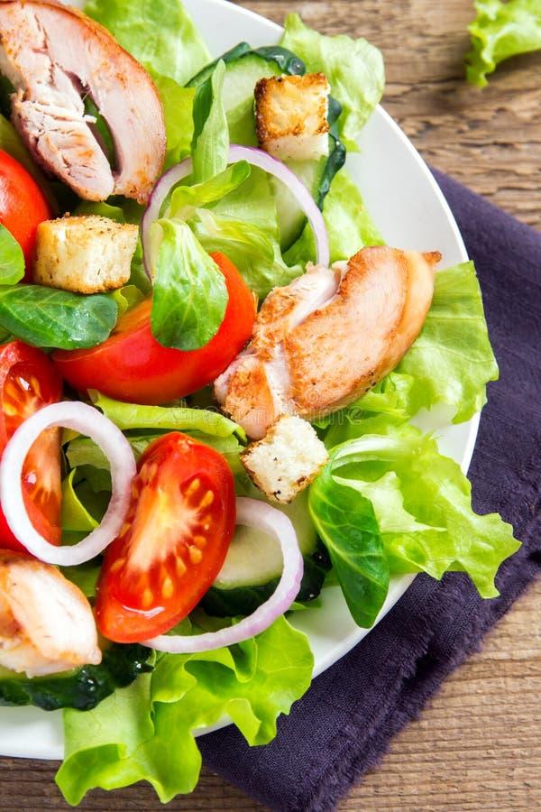 Kurczak sałatka z warzywami zdjęcie royalty free