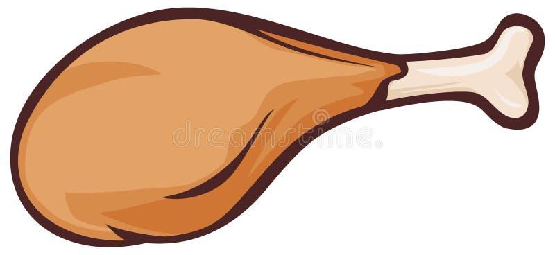 kurczak smażący ilustracji