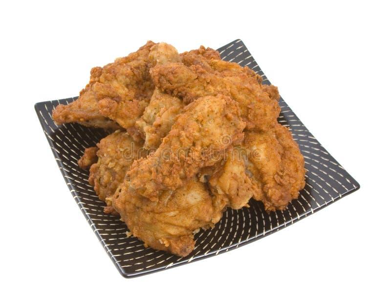 kurczak smażący kawałków talerz fotografia royalty free