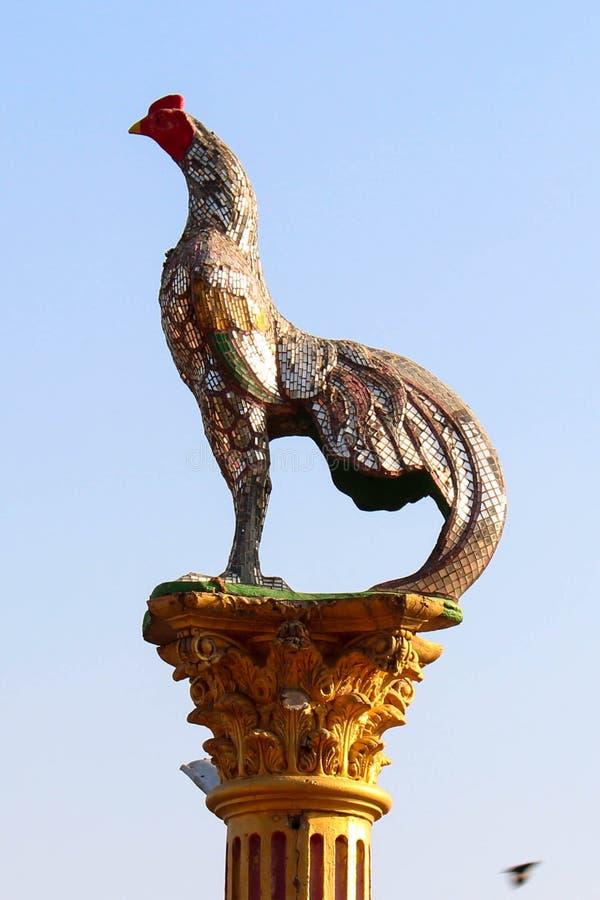 Kurczak statua obraz royalty free