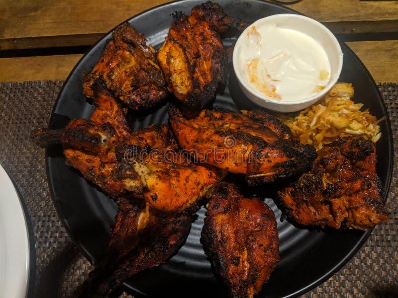 Kurczak tandoori z majonezem tak pyszny na kolację zdjęcia royalty free