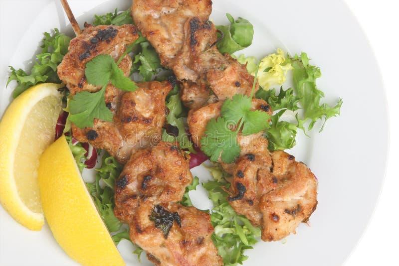 Kurczak Tikka Kebabs obrazy stock
