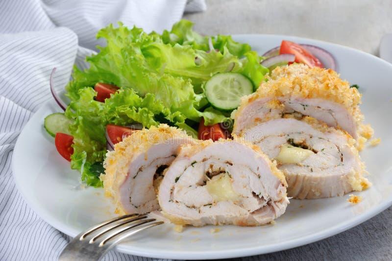Kurczak w breadcrumbs obraz stock
