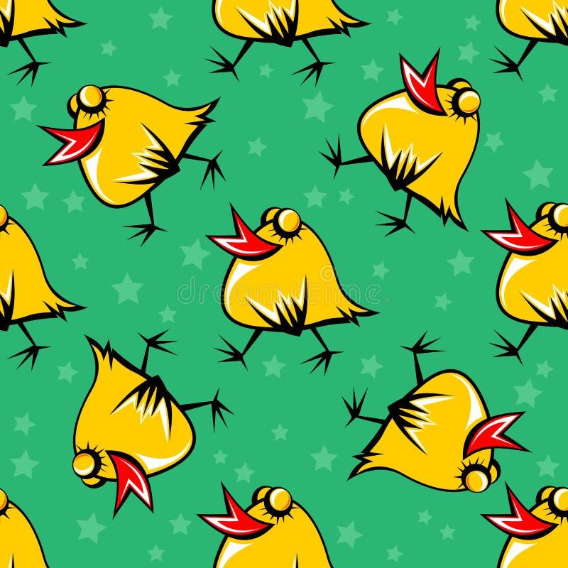 kurczaka bezszwowy wzór ilustracja wektor