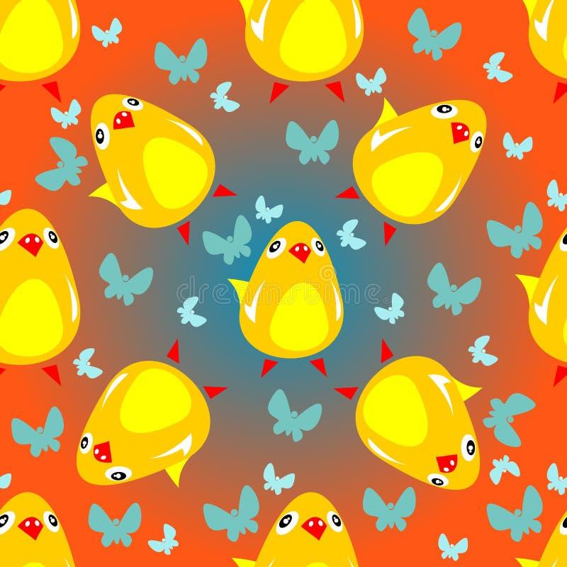 kurczaka bezszwowy wzór ilustracji