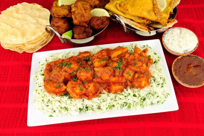 Kurczaka curry'ego posiłek obrazy royalty free