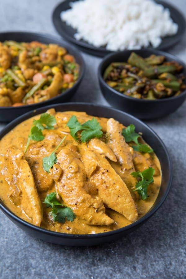 Kurczaka curry'ego posi?ek zdjęcia stock