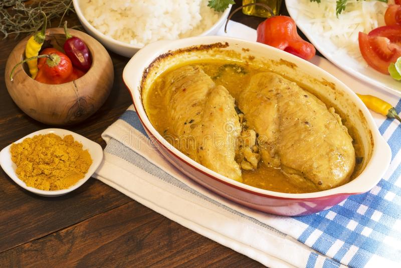 Kurczaka curry obrazy stock