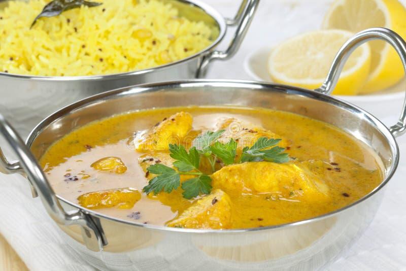 Kurczaka curry z Basmati Rice zdjęcia stock