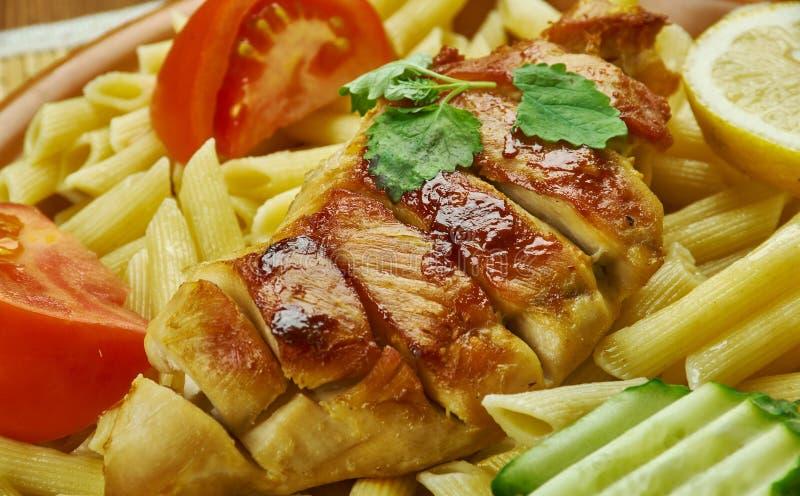 Kurczaka Enchilada makaron zdjęcie royalty free