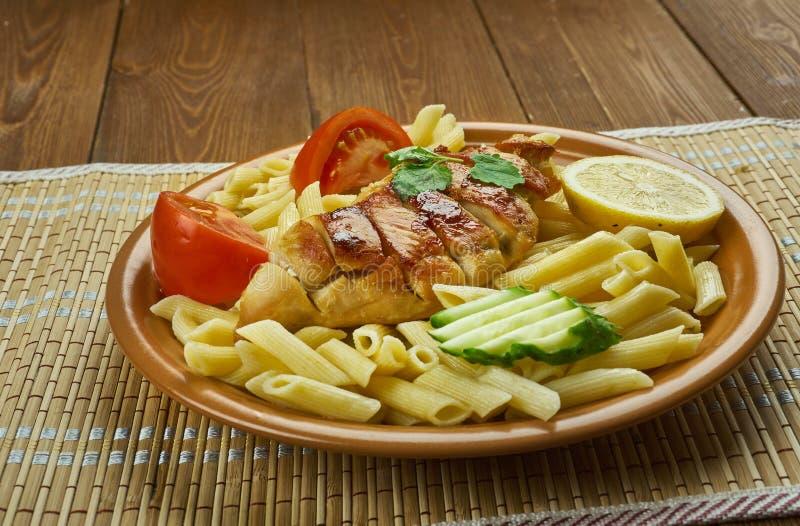 Kurczaka Enchilada makaron zdjęcie stock