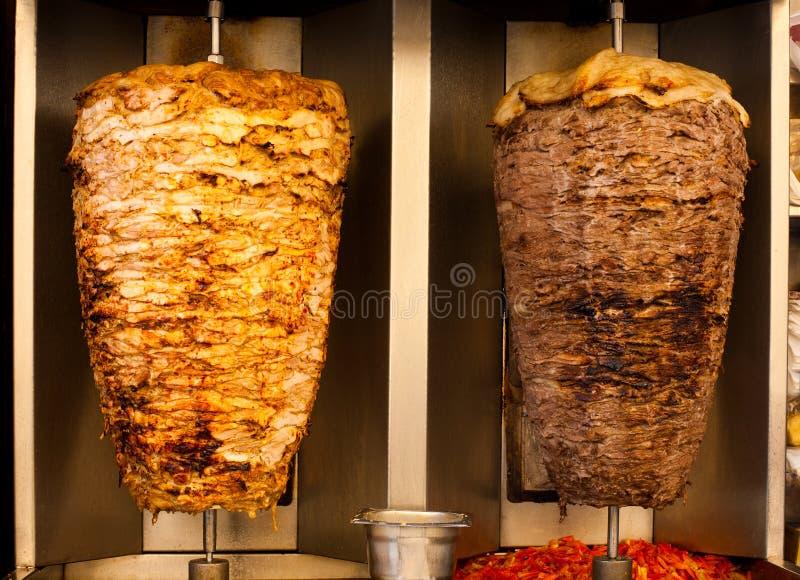 kurczaka fasta food baranka mięsa shawerma zdjęcie royalty free