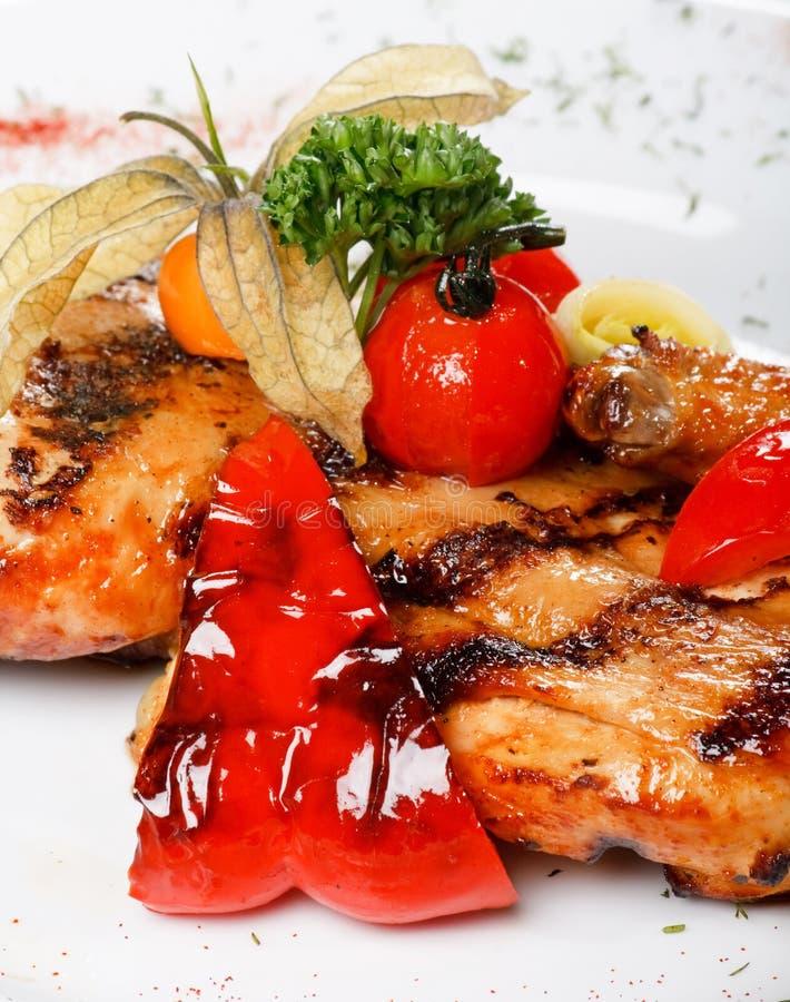 kurczaka fillet piec na grillu zdjęcia royalty free