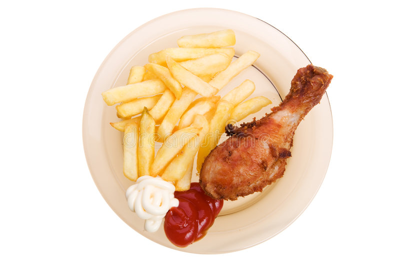 kurczaka francuz smażący dłoniaki zdjęcie stock