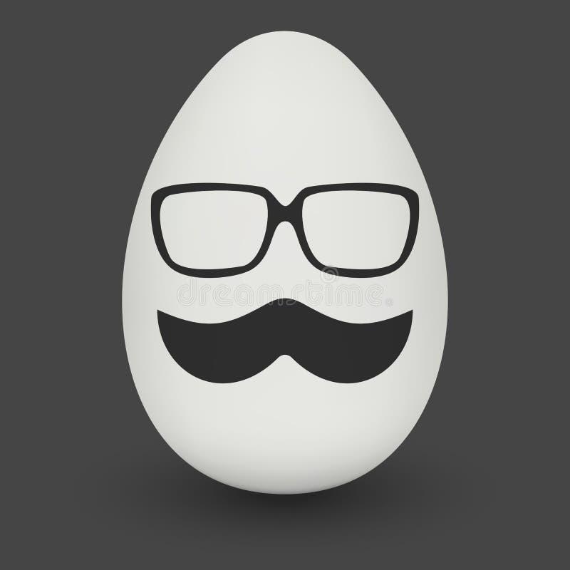 Kurczaka jajko z modniś maską wektor ilustracja wektor