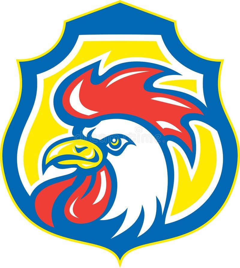 Kurczaka koguta głowy maskotki osłona Retro royalty ilustracja