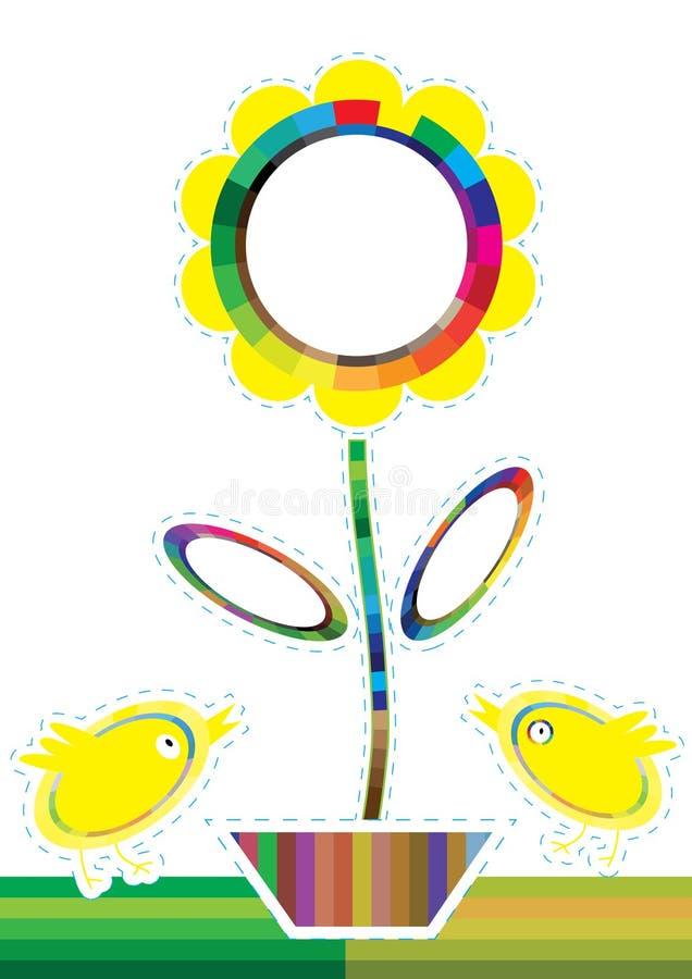 kurczaka kolorów eps kwiatu swatches ilustracja wektor