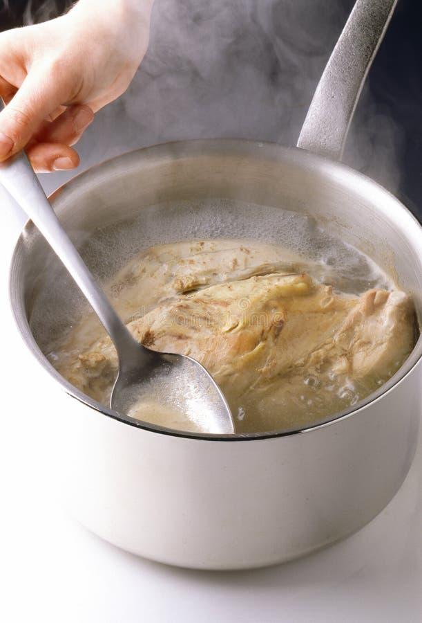 kurczaka kucharstwo zdjęcie stock