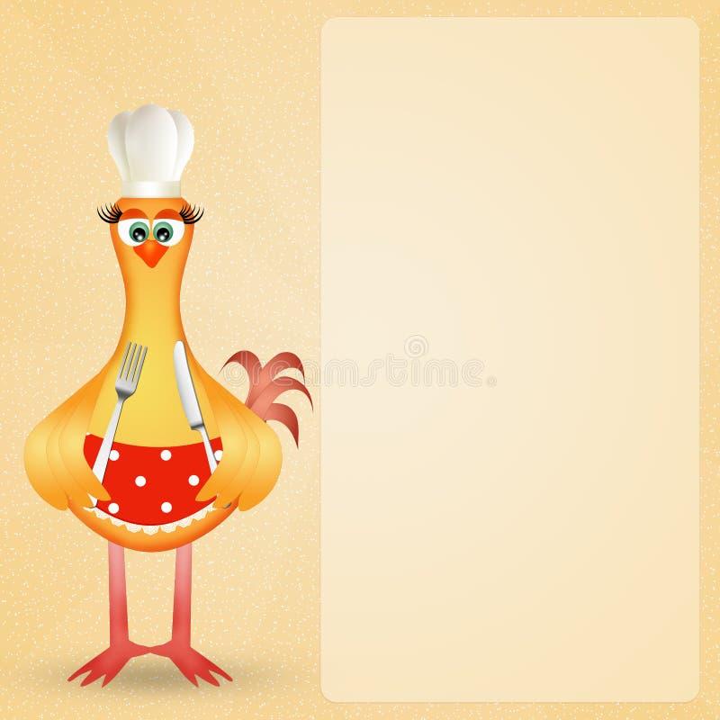 Kurczaka kucharz ilustracja wektor