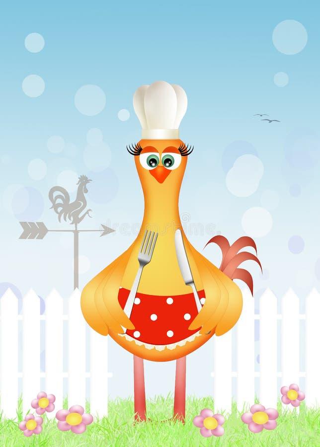 Kurczaka kucharz royalty ilustracja