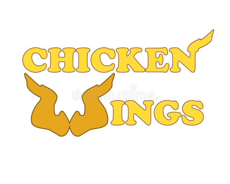 kurczaka loga skrzydła royalty ilustracja