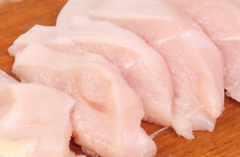 Kurczaka mięso pokrajać zdjęcia royalty free
