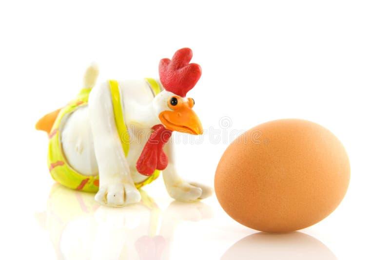 Download Kurczaka śmieszny jajeczny zdjęcie stock. Obraz złożonej z wakacje - 13327492