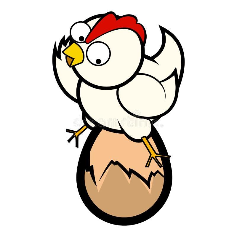 Kurczaka obsiadanie na jajku royalty ilustracja