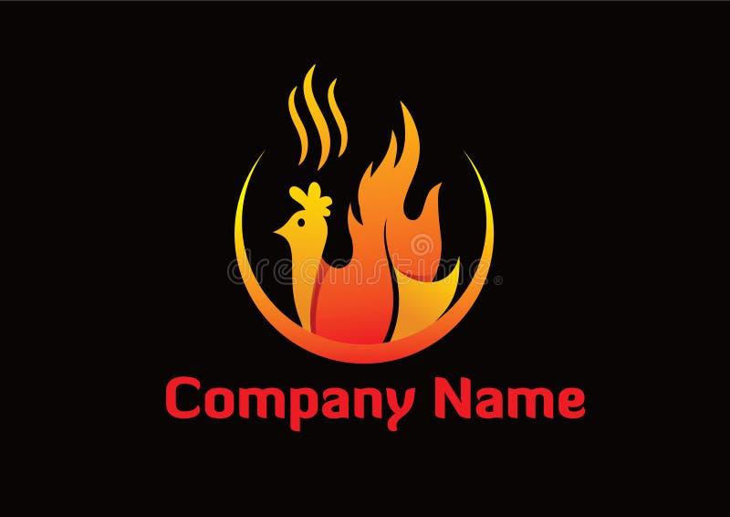 Kurczaka oparzenie logo royalty ilustracja