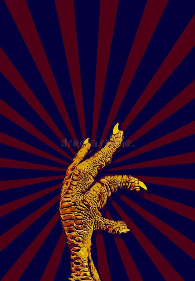 Kurczaka pazur ilustracji