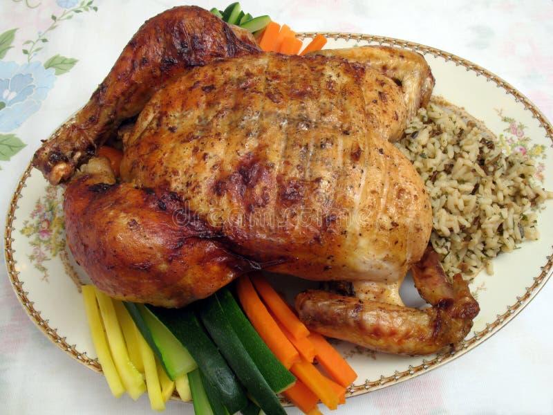 kurczaka pieczeń na kolację zdjęcie stock