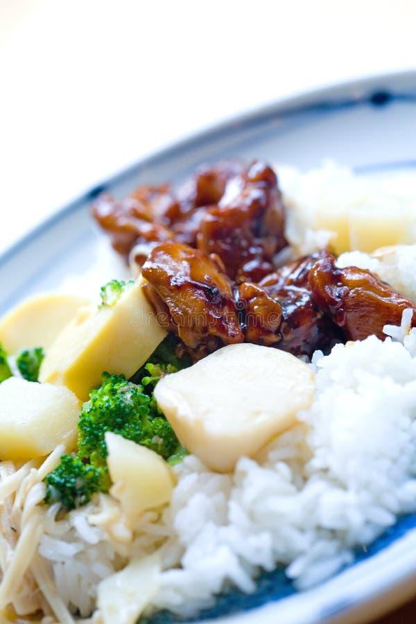 kurczaka pieprzowy ryż kumberland zdjęcie royalty free