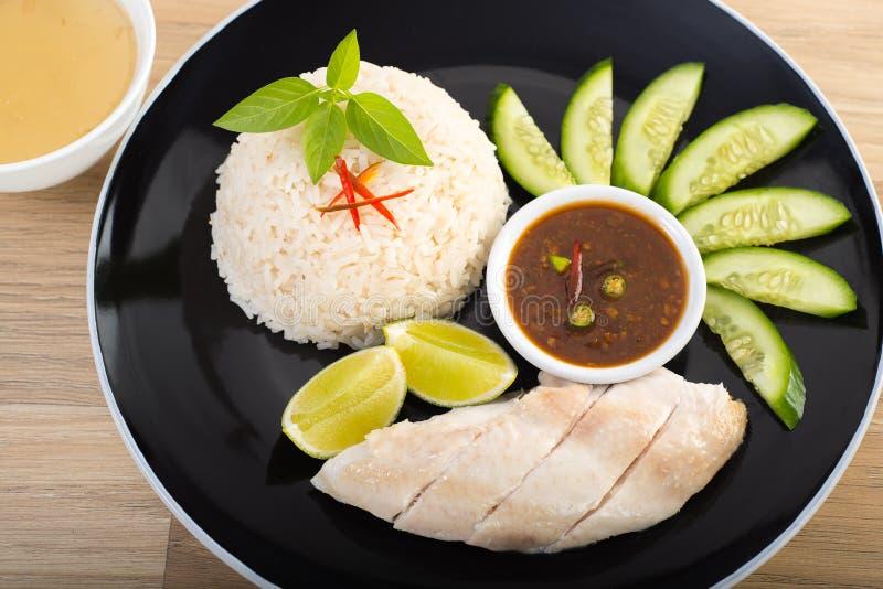 Kurczaka ryżowy Tajlandzki styl obrazy stock