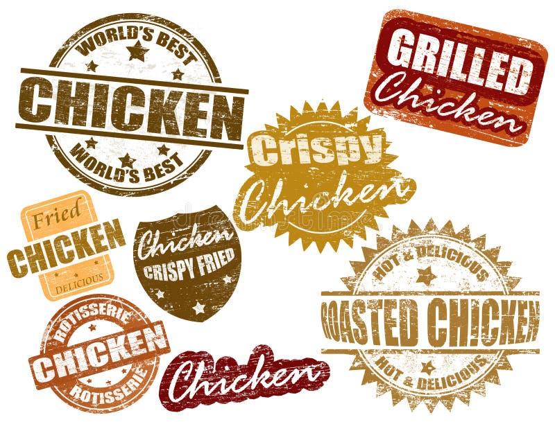 kurczaka setu znaczek ilustracja wektor