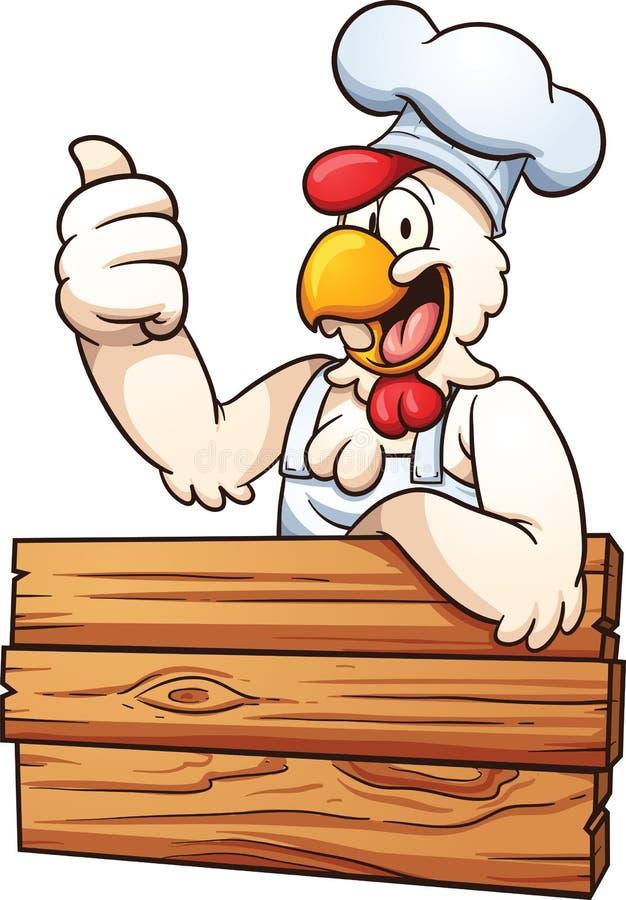 Kurczaka szef kuchni ilustracja wektor
