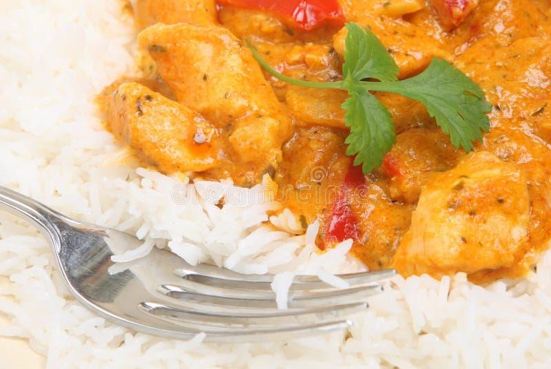 Kurczaka tajlandzki Czerwony Curry zdjęcie royalty free