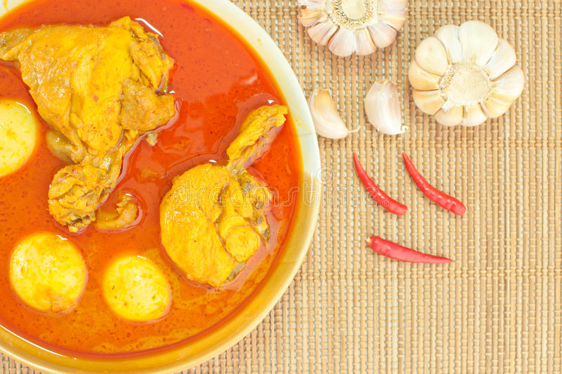 Kurczaka tajlandzki karmowy curry (Mussaman curry) obrazy royalty free