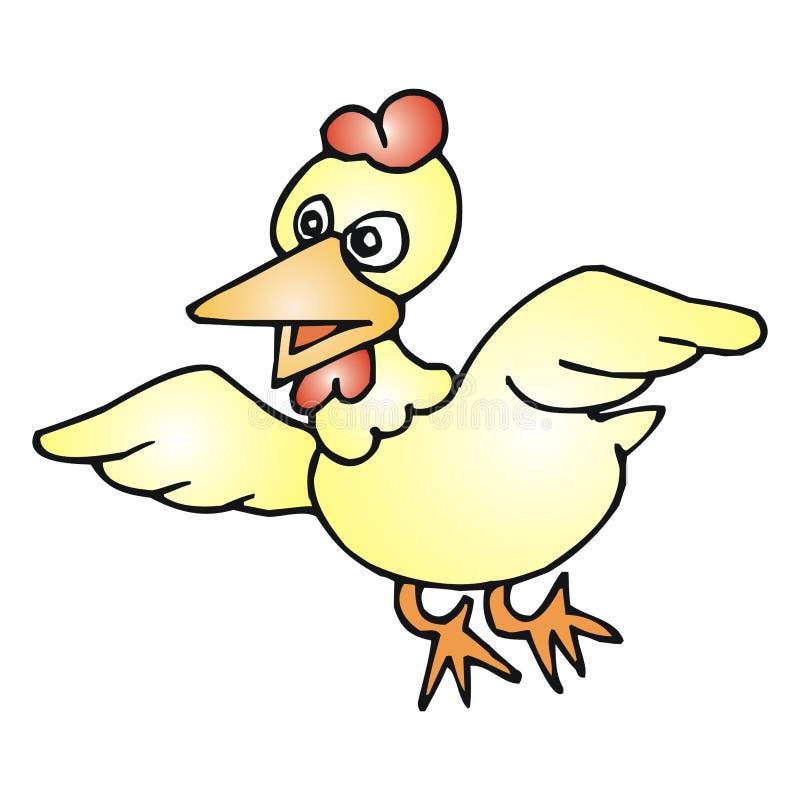 kurczaki latać ilustracja wektor