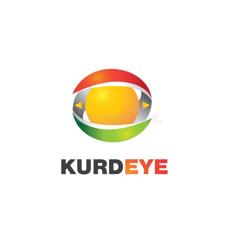 Kurdeye logo fotografering för bildbyråer