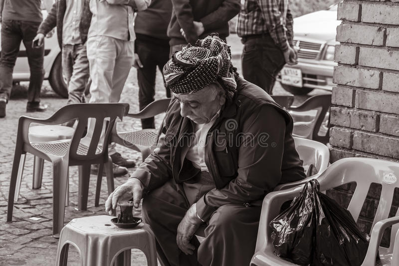 Kurdish old man royalty free stock photo