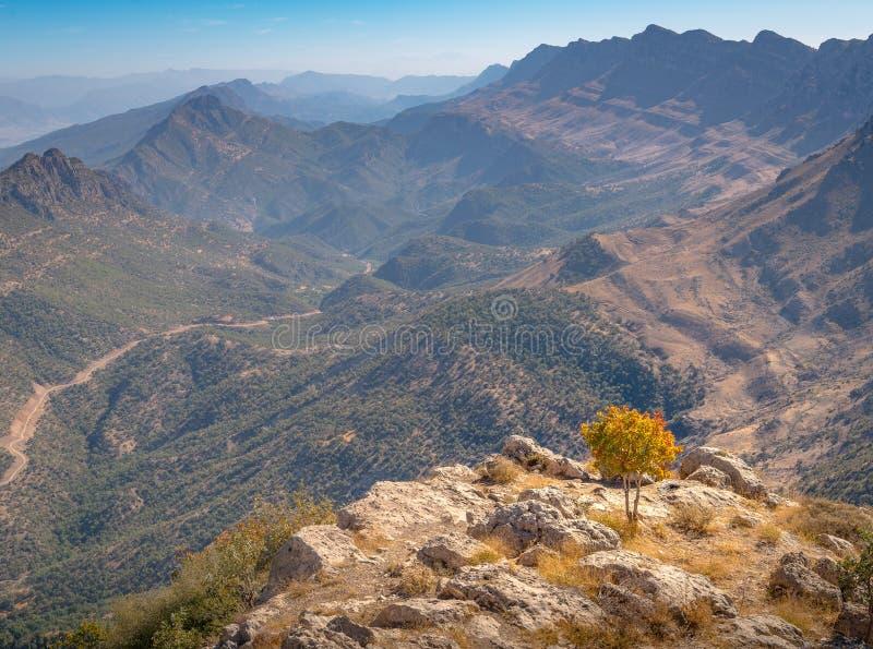 Kurdistan Iraq nature, Erbil. Duhok and Suleimaniya landscape scenic views. Beautiful mountains of Kurdistan in Iraq. Dohuk stock image
