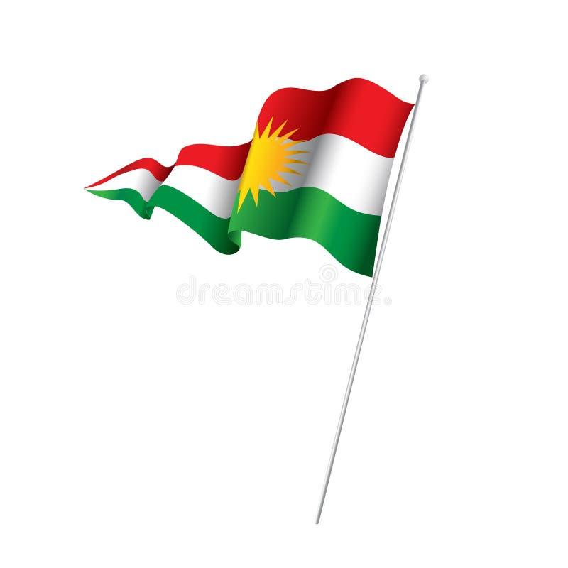 Kurdistan & Kurdish flagga arkivfoto