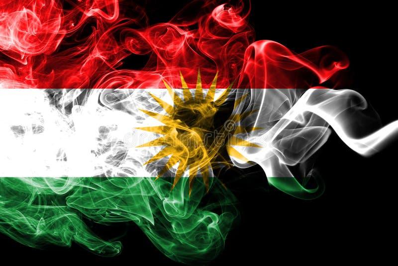 Kurdistanrökflagga, Irak beroende territoriumflagga vektor illustrationer